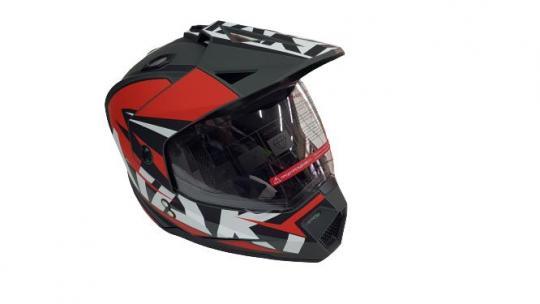 Шлем кроссовый Ataki 2021 красный с визором