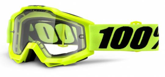 ОЧКИ 100% ACCURI ENDURO FLUO YELLOW / CLEAR DUAL LENS (50202-004-02)