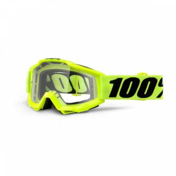 ОЧКИ 100% ACCURI FLUO YELLOW / CLEAR LENS (50200-004-02)