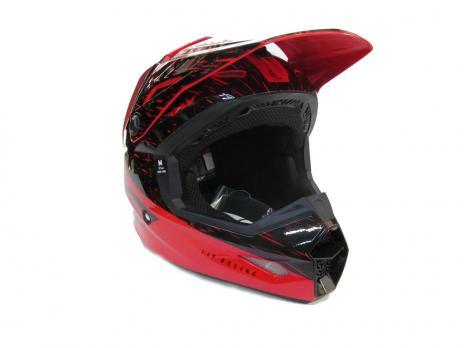 Мотошлем Fly racing красный