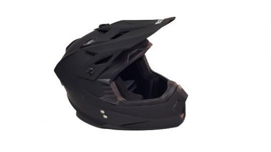 Шлем кроссовый Ataki 2021 чёрный матовый